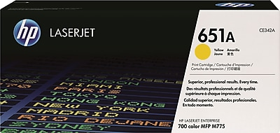 HP 651A Yellow Toner Cartridge (CE342A)