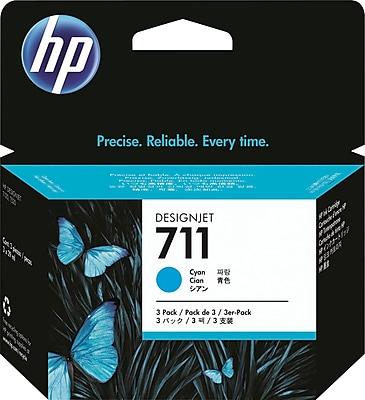 HP 711 (CZ134A) Cyan Inkjet Cartridges Multi-pack (3 cart per pack)
