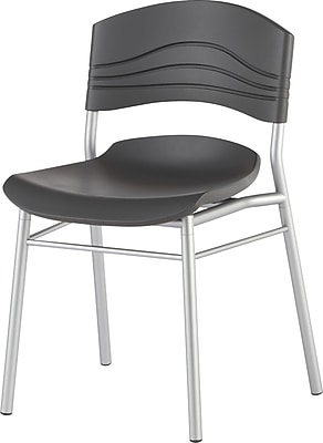Iceberg CafeWorks Cafe Chair, Plastic, Graphite, Seat: 21