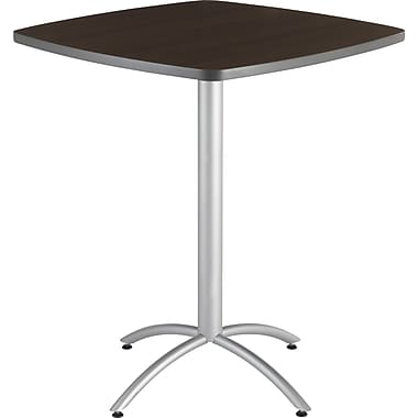 Iceberg® CafeWorks Bistro Table, 36'' Square, Walnut