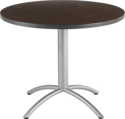 Iceberg® CafeWorks Cafe Table, 36'' Round, Walnut