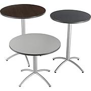 "Iceberg CafeWorks 30"" Round Bistro Table, Graphite/Silver, 42""H x 30""Diameter"