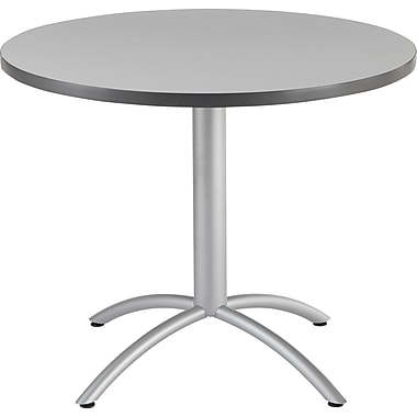 Iceberg® CafeWorks Cafe Table, 36'' Round, Gray