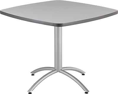Iceberg® CafeWorks Cafe Table, 36'' Square, Gray