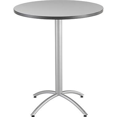 Iceberg® CafeWorks Bistro Table, 36'' Round, Gray