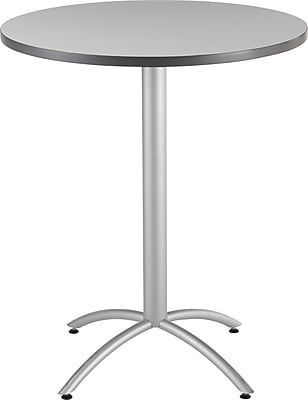 Iceberg® CafeWorks Bistro Table, 36'' Round, Gray