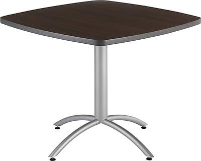 Iceberg® CafeWorks Cafe Table, 36'' Square, Walnut