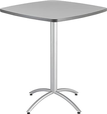 Iceberg® CafeWorks Bistro Table, 36'' Square, Gray