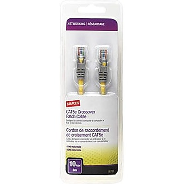 Staples® - Cordon de raccordement CAT5e de 10 pi, jaune