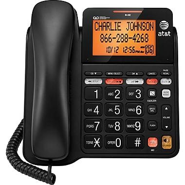 AT&T – Téléphone haut-parleur avec fil et système de répondeur AT&T CL4940