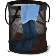Honey Can Do Medium Mesh Pop Open Hamper, Black