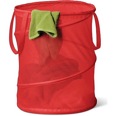 Honey Can Do Medium Mesh Pop Open Hamper, Red, (HMP-01263)