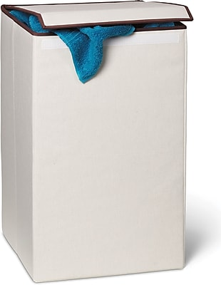 Honey Can Do Square Collapsible Laundry Hamper with Lid, Natural (HMP-01135)