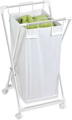 Honey Can Do Single Folding Hamper with Removable Bag, White (HMP-01385)