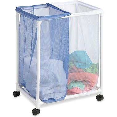 Honey Can Do 2 Bag Mesh Laundry Sorter, blue/white (HMP-01628)
