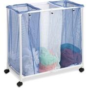 Honey Can Do 3 Bag Mesh Laundry Sorter, blue/white (HMP-01629)