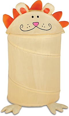 Honey Can Do Kid's Pop-Up Hamper, Lion, yellow/orange (HMP-02056)