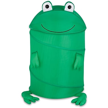 Honey Can Do Kids Pop-Up Hamper, Frog, green (HMP-02058)