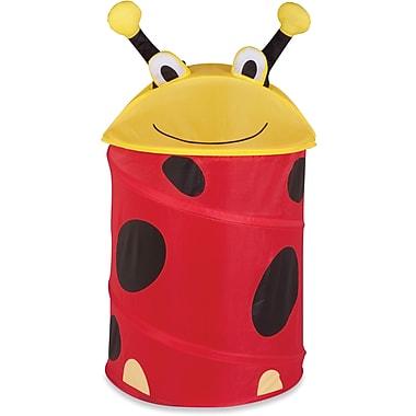 Honey Can Do Kid's Pop-Up Hamper, Lady Bug, yellow/red (HMP-02057)