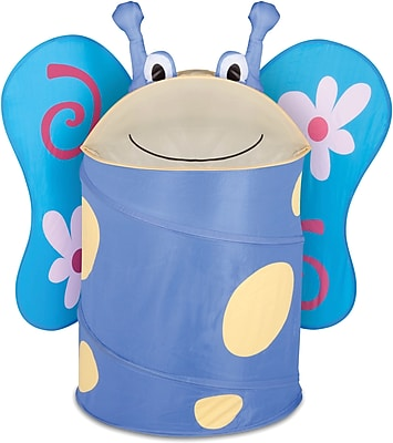 Honey Can Do Kids Pop-Up Hamper, Butterfly, blue/yellow (HMP-02059)