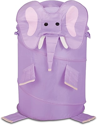Honey Can Do Kids Pop-Up Hamper, Elephant, purple (HMP-02061)
