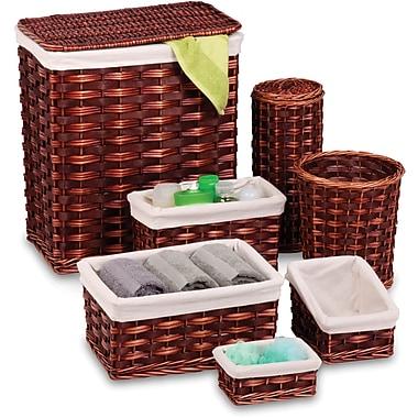 Honey Can Do 7 Piece Wicker Hamper Kit, brown/cherry (HMP-01866)