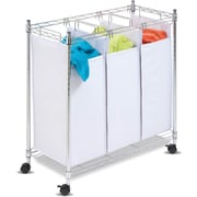 Honey Can Do® Rolling Urban Triple Sorter, Chrome