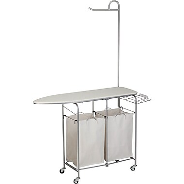 Honey Can Do Foldable ironing laundry center, natural (SRT-01974)