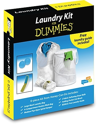 Honey Can Do Basic Laundry for Dummies Kit, white (LDY-01890)