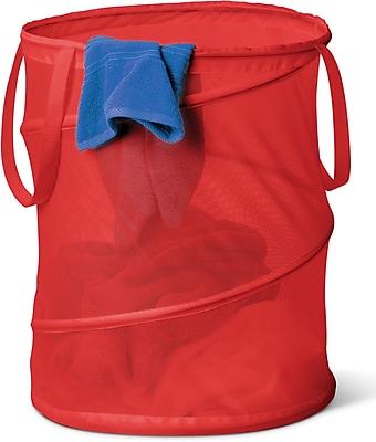 Honey Can Do Laundry Bag & Hamper Kit, Red (LDYX03018)