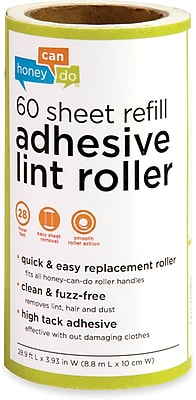 Honey Can Do 6 Pack Of 60 Sheet Lint Roller Refills