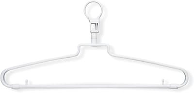 Honey Can Do 72 Pack Hotel Hangers With Security Loop, 72/Pack