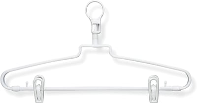 Honey Can Do 72 Pack Hotel Hangers With Security Loop and Clips, 72/Pack