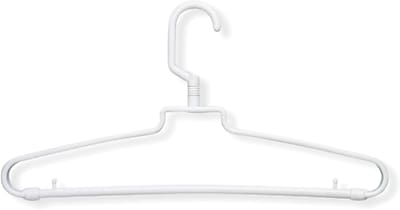 Honey Can Do 72 Pack Hotel Style Hangers, White, 72/Pack