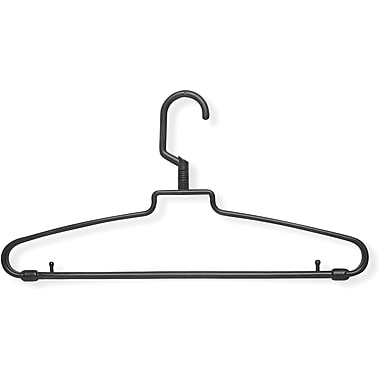 Honey Can Do 72 Pack Hotel Style Hangers, Black