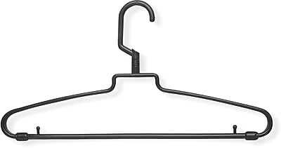 Honey Can Do 72 Pack Hotel Style Hangers, Black, 72/Pack