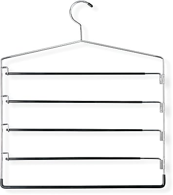Honey Can Do Five-Tier Swinging Arm Pant Hanger, 2/Pack