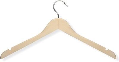 Honey Can Do 20 Pack Basic Shirt Hanger, Maple, 20/Pack