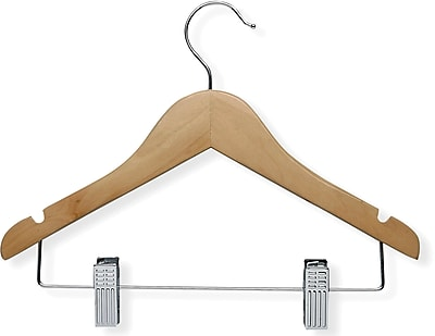 Honey Can Do 10 Pack Kid's Basic Hanger with Clip, 10/Pack