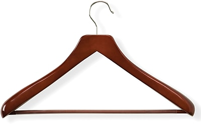 Honey Can Do Curved Wood Suit Hanger, Cherry, 2/Pack