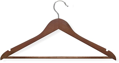 Honey Can Do 8 Pack Basic Suit Hanger, Cherry, 8/Pack
