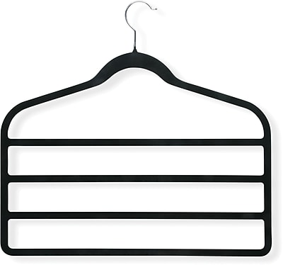 Honey Can Do 4 Pack Velvet Touch 4-step Hanger, 4/Pack
