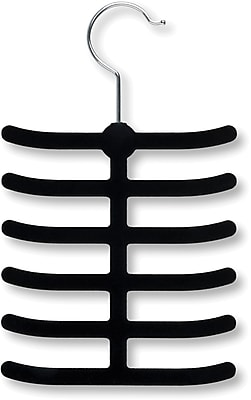 Honey Can Do 20 Pack 12 Hook Tie Hanger, Black, 20/Pack