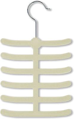 Honey Can Do 20 Pack 12 Hook Tie Hanger, White, 20/Pack