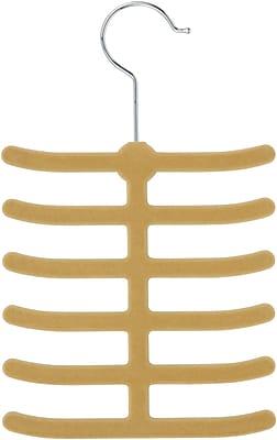 Honey Can Do 20 Pack 12 Hook Tie Hanger, Tan, 20/Pack