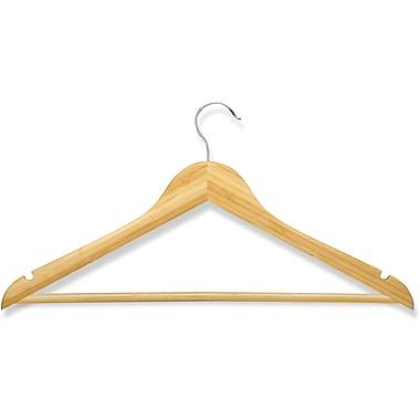 Honey Can Do 8 Pack Basic Suit Hanger, Bamboo