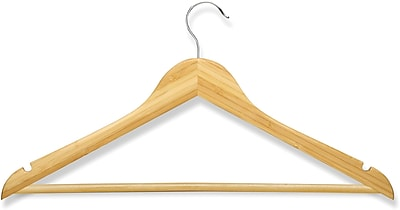 Honey Can Do 8 Pack Basic Suit Hanger, Bamboo, 8/Pack
