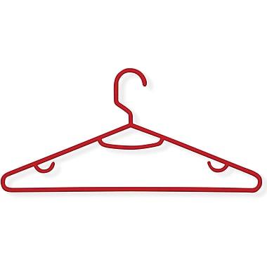 Honey-Can-Do International HNGZ01522 Plastic Tubular Hanger, Red