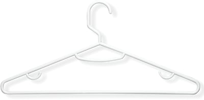 Honey Can Do 60-Pack Plastic Tubular Hangers, White, 60/Pack