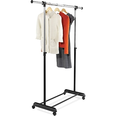 Honey-Can-Do International GAR-01124 Expandable Garment Rack, Black